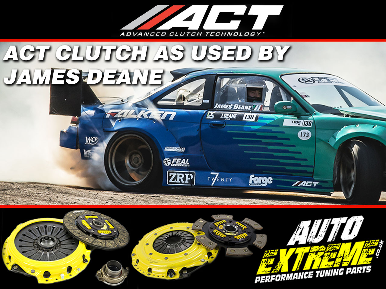ACT Clutch used by James Deane Drift Allstars Irish Drift Championship IDC Champion